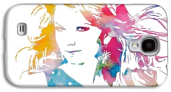 Taylor Swift Galaxy S4 Cases - Taylor Swift Watercolor Galaxy S4 Case by Dan Sproul