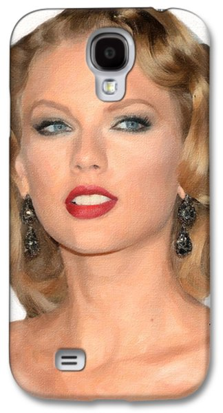 Taylor Swift Galaxy S4 Cases - TaylorSwift Galaxy S4 Case by Anthony Caruso