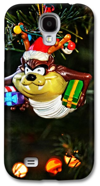 Looney Tunes Galaxy S4 Cases - Taz on Christmas Tree Galaxy S4 Case by Mike Martin