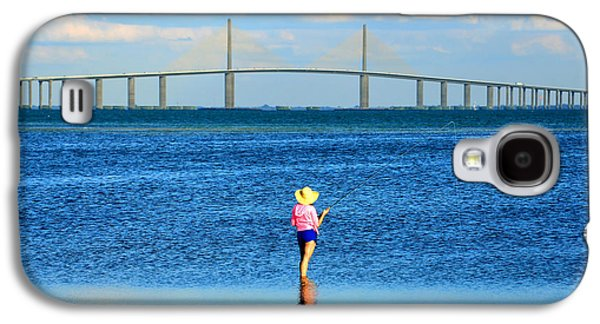 Sunshine Skyway Bridge Galaxy S4 Cases - TBF a sportsmans paradise Galaxy S4 Case by David Lee Thompson