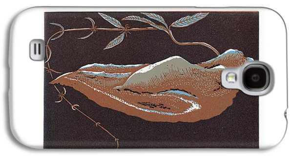 Linocut Paintings Galaxy S4 Cases - Tchaba plant Galaxy S4 Case by Cebo Mvubu