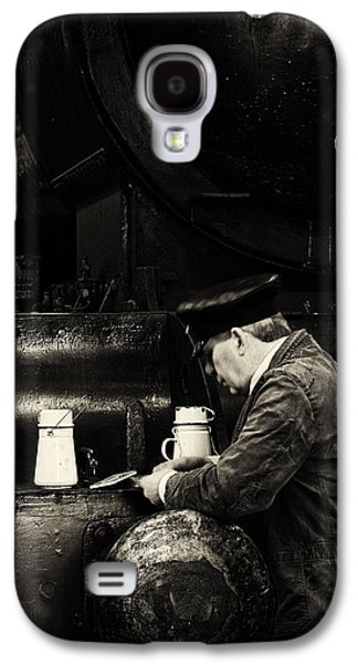 Historical Re-enactments Galaxy S4 Cases - Tea break in the engine shed. Galaxy S4 Case by Mick Gosling