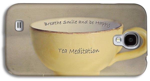 Healing Posters Galaxy S4 Cases - Tea Meditation Galaxy S4 Case by Irina Wardas