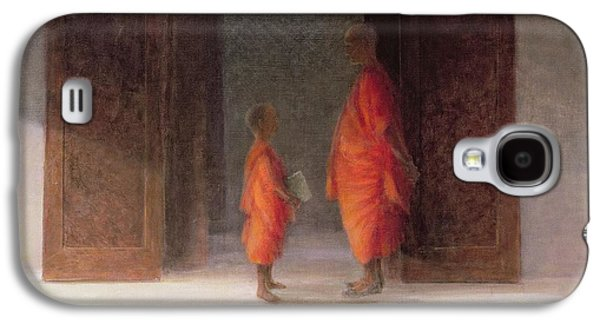 Buddhist Monk Galaxy S4 Cases - Teacher, 2005 Acrylic On Canvas Galaxy S4 Case by Lincoln Seligman