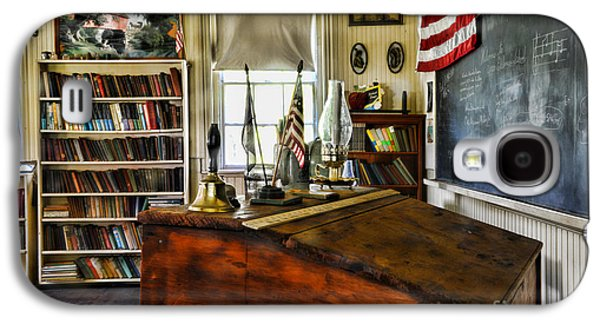 School Houses Galaxy S4 Cases - Teacher - Vintage Desk Galaxy S4 Case by Paul Ward