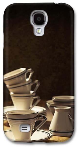 Coffee Drinking Galaxy S4 Cases - Teacups Galaxy S4 Case by Amanda And Christopher Elwell