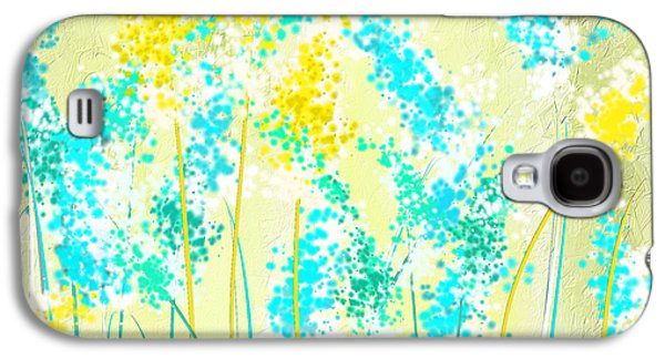 Green And Yellow Galaxy S4 Cases - Teal And Graces Galaxy S4 Case by Lourry Legarde