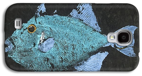 Gyotaku Triggerfish Galaxy S4 Case by Captain Warren Sellers