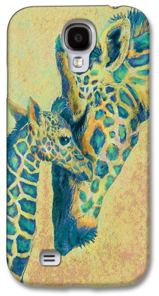 Giraffe Digital Galaxy S4 Cases - Teal Giraffes Galaxy S4 Case by Jane Schnetlage