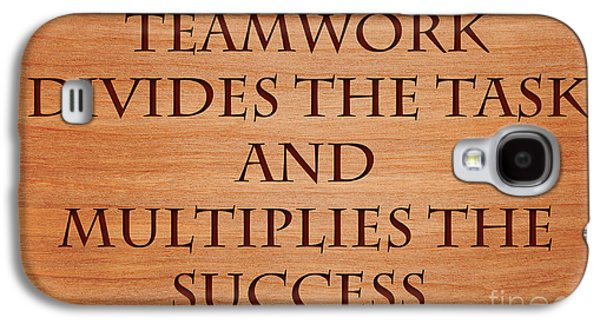Enterprise Galaxy S4 Cases - Teamwork and Success Galaxy S4 Case by Sari ONeal
