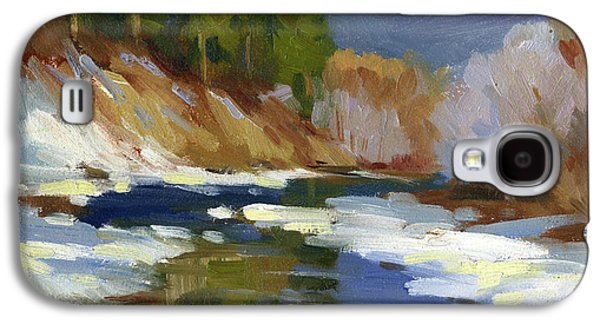 Snow Scene Galaxy S4 Cases - Teanaway River Galaxy S4 Case by Diane McClary