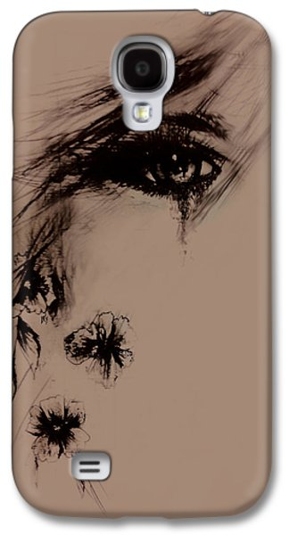 Tear Drawings Galaxy S4 Cases - Tear Galaxy S4 Case by Rachel Christine Nowicki
