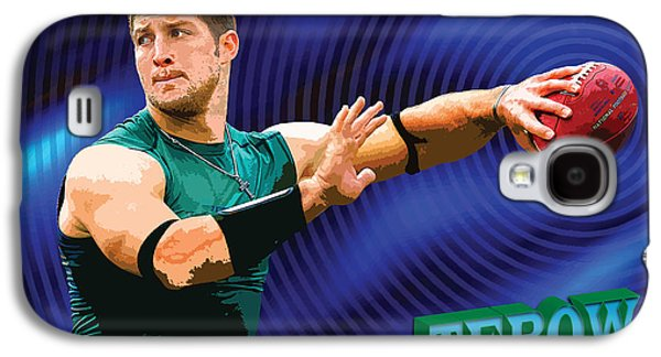 Tim Tebow Galaxy S4 Cases - Tebow Galaxy S4 Case by John Keaton