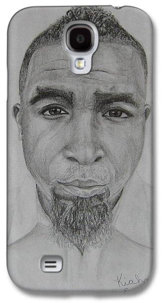 Hop Drawings Galaxy S4 Cases - Tech N9ne Portrait Galaxy S4 Case by Kiahna Engel