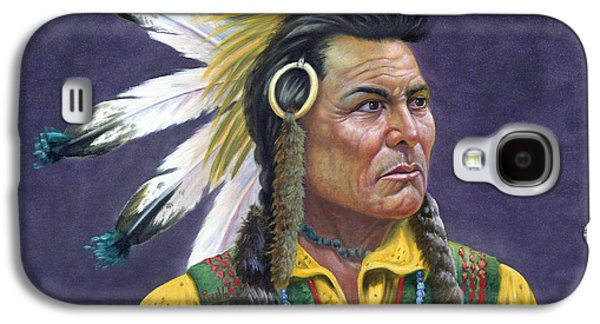 Character Portraits Mixed Media Galaxy S4 Cases - Tecumseh Galaxy S4 Case by Gregory Perillo
