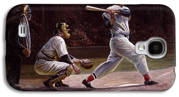 Champion Digital Art Galaxy S4 Cases - Ted Williams At Bat Galaxy S4 Case by Gregory Perillo