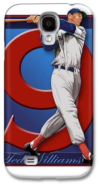 Baseball Uniform Galaxy S4 Cases - Ted Williams Galaxy S4 Case by Ron Regalado