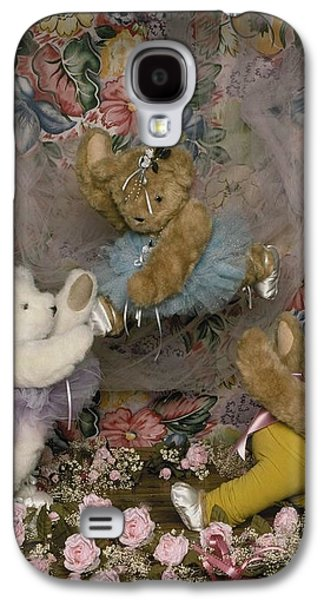Dance Ballet Roses Galaxy S4 Cases - Teddy Bear Ballet Galaxy S4 Case by Mary J Tait