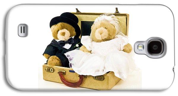 Adorable Galaxy S4 Cases - Teddy Bear Honeymoon Galaxy S4 Case by Edward Fielding