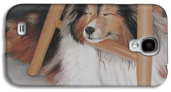 Teddy In My Studio Galaxy S4 Case by Sandra Chase