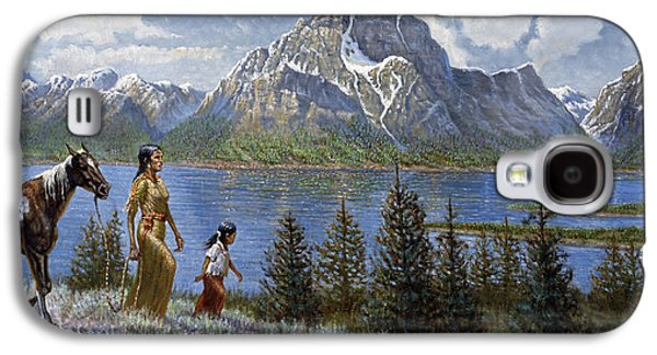 Walking Mixed Media Galaxy S4 Cases - Tee Tons Wyoming Galaxy S4 Case by Gregory Perillo