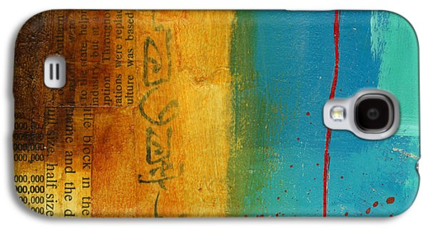 Grid Paintings Galaxy S4 Cases - Teeny Tiny Art 111 Galaxy S4 Case by Jane Davies