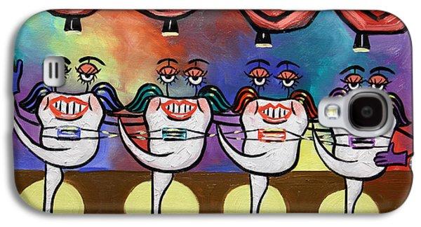 Teeth Galaxy S4 Cases - Teeth With Braces Dental Art By Anthony Falbo Galaxy S4 Case by Anthony Falbo
