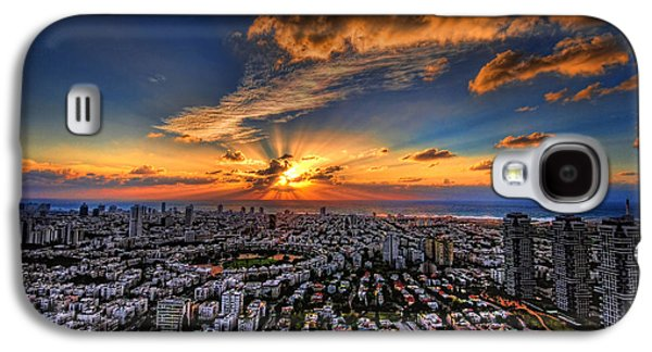 Shore Digital Art Galaxy S4 Cases - Tel Aviv sunset time Galaxy S4 Case by Ron Shoshani