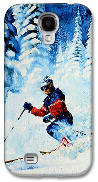 Skiing Posters Paintings Galaxy S4 Cases - Telemark Trails Galaxy S4 Case by Hanne Lore Koehler