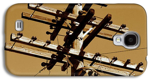 Telephone Poles Galaxy S4 Cases - Telephone lines 1900 Galaxy S4 Case by David Lee Thompson