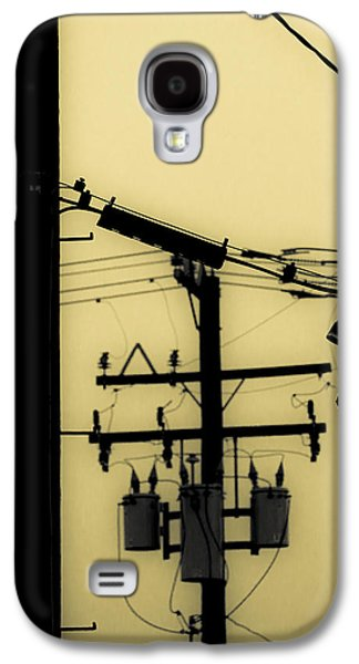 Duo Tone Galaxy S4 Cases - Telephone Pole and Sneakers 5 Galaxy S4 Case by Scott Campbell