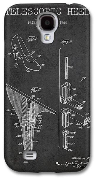 Shoe Digital Art Galaxy S4 Cases - Telescopic Heel Patent from 1960 - Dark Galaxy S4 Case by Aged Pixel