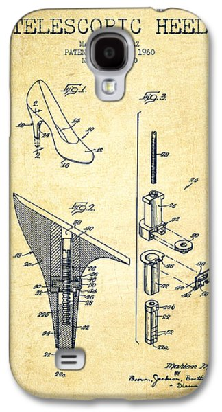 Shoe Digital Art Galaxy S4 Cases - Telescopic Heel Patent from 1960 - Vintage Galaxy S4 Case by Aged Pixel