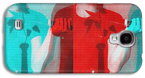 Mystifying Galaxy S4 Cases - Teller / Early Shadows - Red and Teal  Galaxy S4 Case by Elizabeth McTaggart