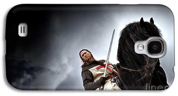 Knight Galaxy S4 Cases - Templar Knight Friesian II Galaxy S4 Case by Holly Martin