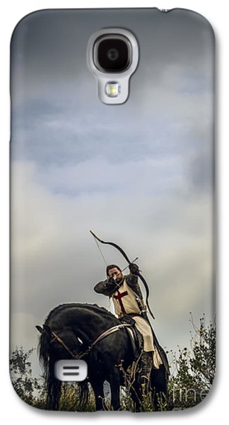 Knight Galaxy S4 Cases - Templar Knight Friesian III Galaxy S4 Case by Holly Martin