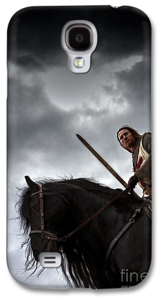 Knight Galaxy S4 Cases - Templar Knight Friesian IV Galaxy S4 Case by Holly Martin