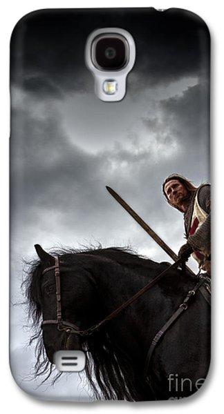 Knight Photographs Galaxy S4 Cases - Templar Knight Friesian IV Galaxy S4 Case by Holly Martin