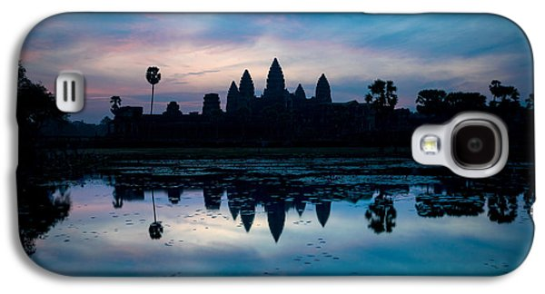 Civilization Galaxy S4 Cases - Temple At The Lakeside, Angkor Wat Galaxy S4 Case by Panoramic Images