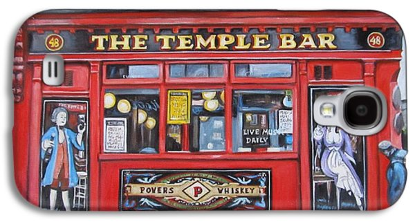 U2 Paintings Galaxy S4 Cases - Temple Bar Dublin Ireland Galaxy S4 Case by Melinda Saminski