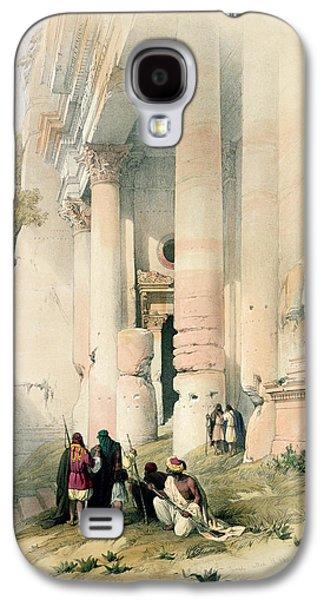 Petra Galaxy S4 Cases - Temple called El Khasne Galaxy S4 Case by David Roberts