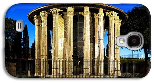Round Galaxy S4 Cases - Temple of Hercules Victor Galaxy S4 Case by Fabrizio Troiani