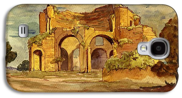 Orientalists Galaxy S4 Cases - Temple of Minerva Rome Galaxy S4 Case by Juan  Bosco