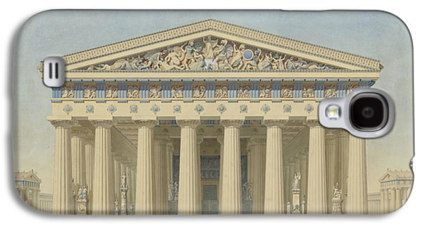 Temple T At Selinunte Sicily Galaxy S4 Case by Jacques Ignace Hittorff