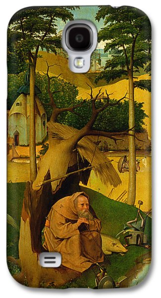 Contemplative Photographs Galaxy S4 Cases - Temptation Of St. Anthony, 1490 Oil On Panel Galaxy S4 Case by Hieronymus Bosch