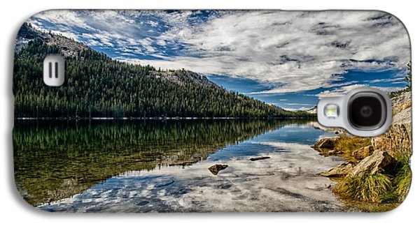 Cloudy Day Galaxy S4 Cases - Tenaya Lake Reflections Galaxy S4 Case by Cat Connor
