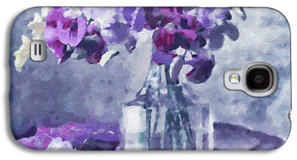 Impressionism Mixed Media Galaxy S4 Cases - Tender Moments Still Life Galaxy S4 Case by Georgiana Romanovna