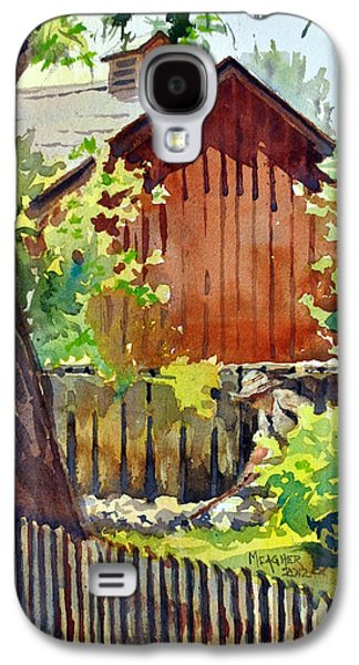 Charles River Paintings Galaxy S4 Cases - Tending The Garden Galaxy S4 Case by Spencer Meagher