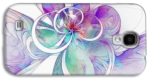 Abstract Digital Art Galaxy S4 Cases - Tendrils 10 Galaxy S4 Case by Amanda Moore
