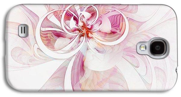 Floral Digital Art Digital Art Galaxy S4 Cases - Tendrils 12 Galaxy S4 Case by Amanda Moore